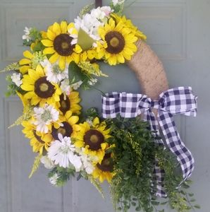 Custom sunflower wreath